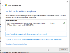 KB4022725, black screen e patch da nascondere (per ora)