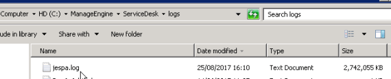 ServiceDesk: jespa.log sempre più grande? 1