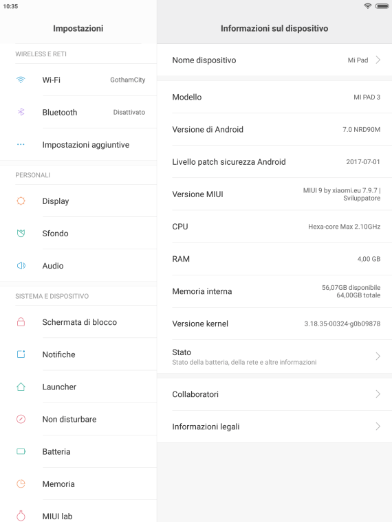 Xiaomi Mi Pad 3: cambiare il firmware per ottenere la lingua italiana 24