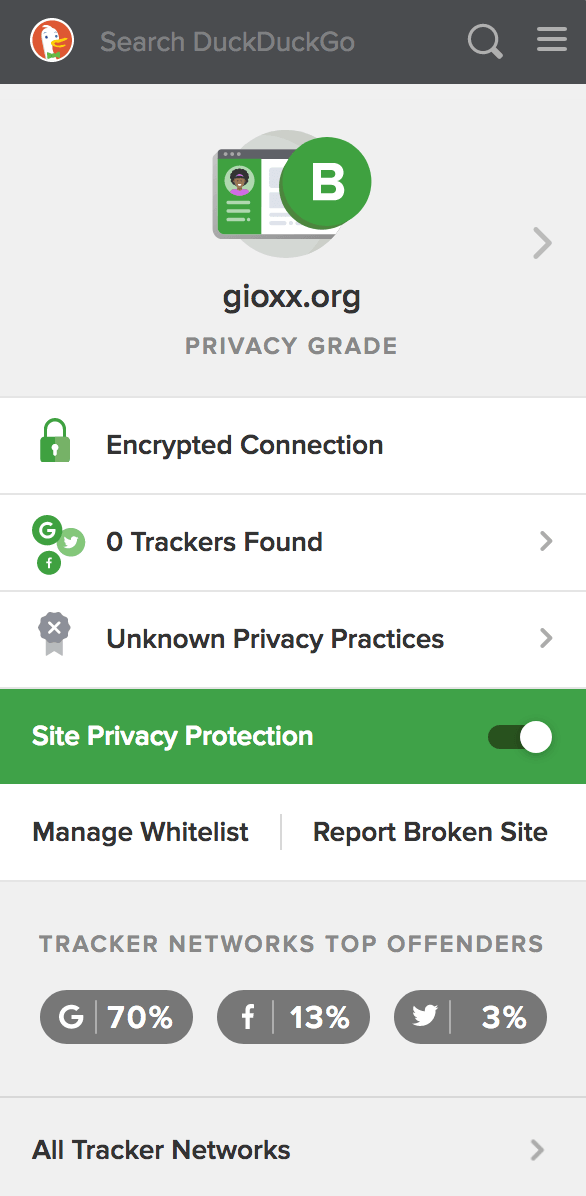 Un'occhiata a DuckDuckGo Privacy Essentials 3