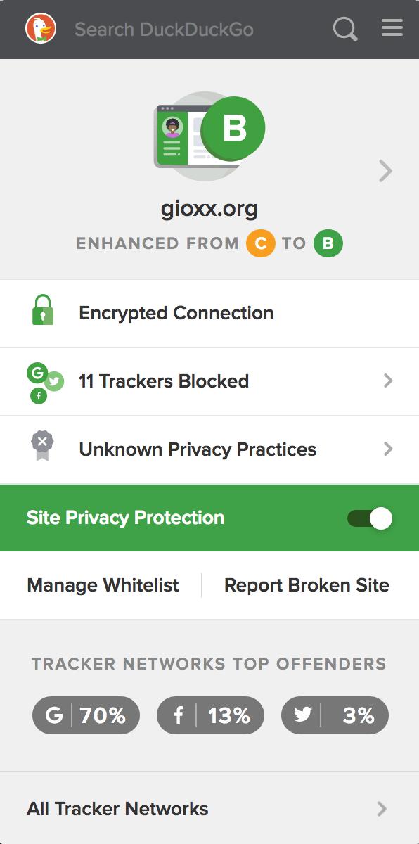 Un'occhiata a DuckDuckGo Privacy Essentials 4