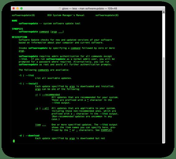 macOS: aggiornamento software tramite Terminale 1