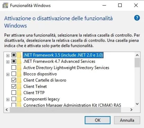 .NET Framework 3.5 e Windows 10, come risolvere l'errore 0x800F081F 2
