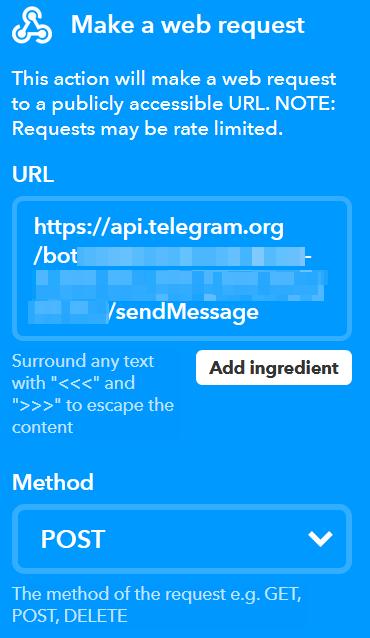 Da WordPress a Telegram, passando per IFTTT 5