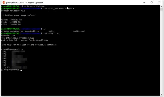 Dropbox: upload dati da bash con Windows (WSL) 8