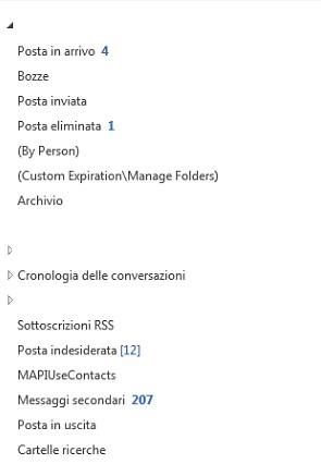 Outlook: forzare i nomi delle cartelle in italiano 1