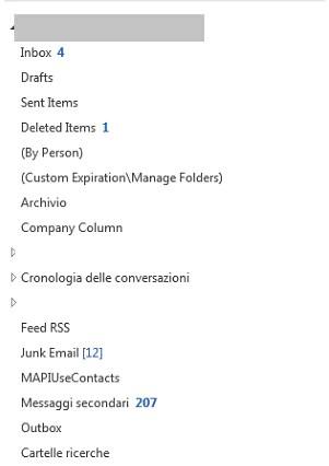Outlook: forzare i nomi delle cartelle in italiano 2