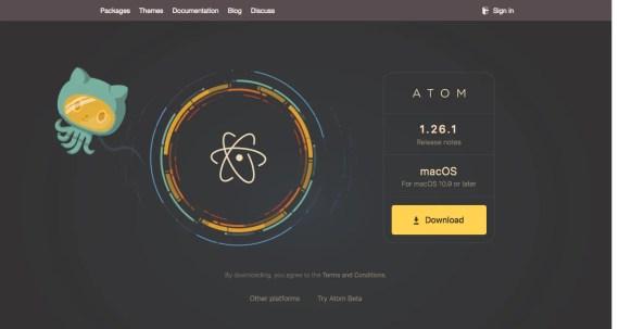 L'alternativa a Notepad++ su macOS è ATOM