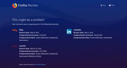 Firefox Monitor ti avvisa in caso di furto credenziali 1