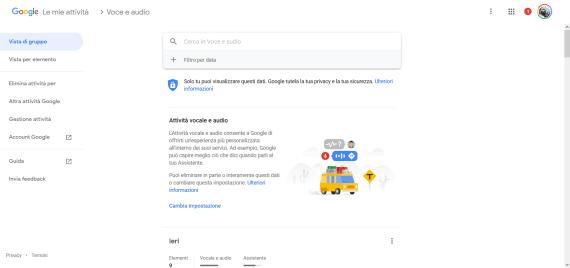 #LoSapeviChe: verificare lo storico delle tue attività Google voce