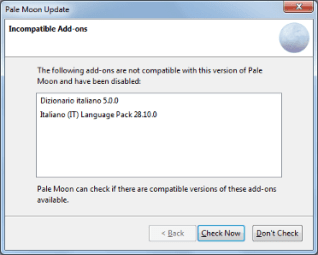 Le estensioni legacy di Firefox non funzionano più su Pale Moon, come rimediare? 6
