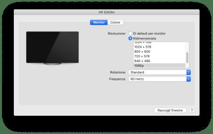 macOS: visualizzare tutte le possibili risoluzioni del monitor 2