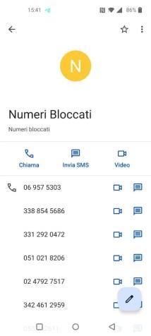 Android: come migrare la lista dei numeri bloccati? 7