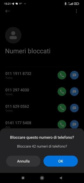 Android: come migrare la lista dei numeri bloccati? 3