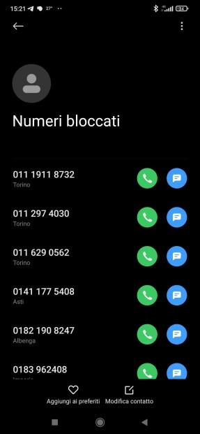 Android: come migrare la lista dei numeri bloccati? 1