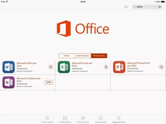 C è una pagina dedicata su App Store ed è possibile scaricare (come potete vedere  dall immagine qui sopra) Microsoft Word 9dce587456c