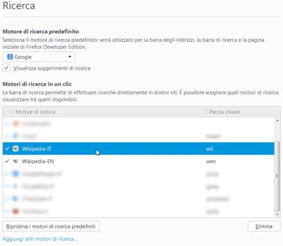 Cerca rapidamente su Wikipedia (IT, EN) con Firefox