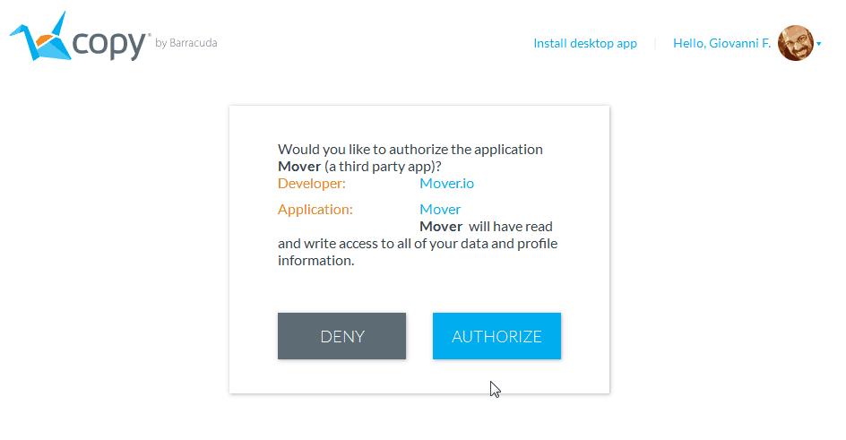 Copy è morto. Migrazione dati in cloud (da Copy a Dropbox) 1
