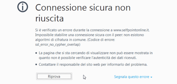 Firefox: ssl_error_no_cypher_overlap (Secure Connection Failed)