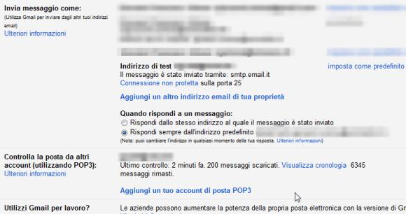 gmail-VerificaRicezionePOP3SMTPAlias