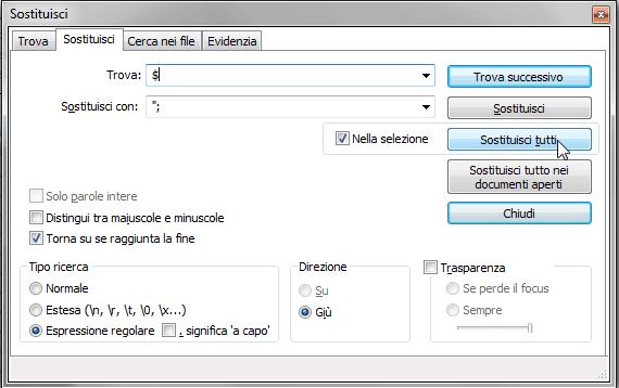 Notepad++: aggiungere testo a inizio e fine di ogni linea 2