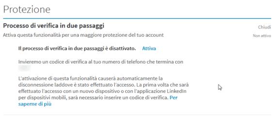 Sicurezza: la 2-step verification di LinkedIn
