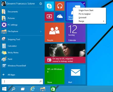 Windows 10 Technical Preview con VMWare Player 1