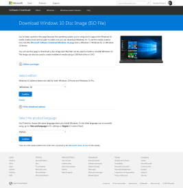 Windows 10: preparare una chiave avviabile (no-Media Tool Microsoft)