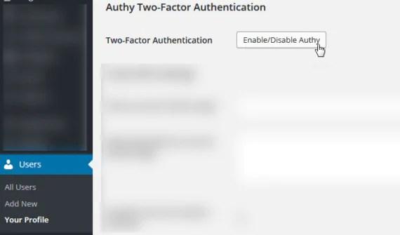 WordPress e Authy: autenticazione OneTouch
