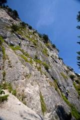 Steiler Aufstieg im Grünstein Klettersteig © Gipfelfieber.com