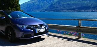 Mit dem Honda Civic Tourer am Gardasee