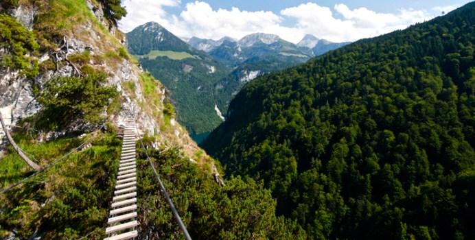 Der Grünsteig Klettersteig am Fuß des Watzmann