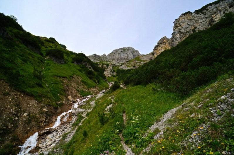 Aufstieg durch eine Rinne © Gipfelfieber.com