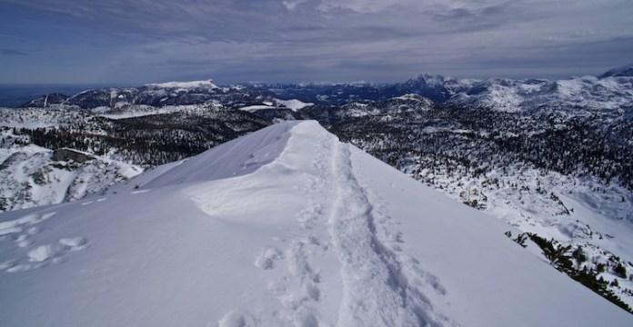 Im Winter auf der Reiteralpe: Großer Weitschartenkopf