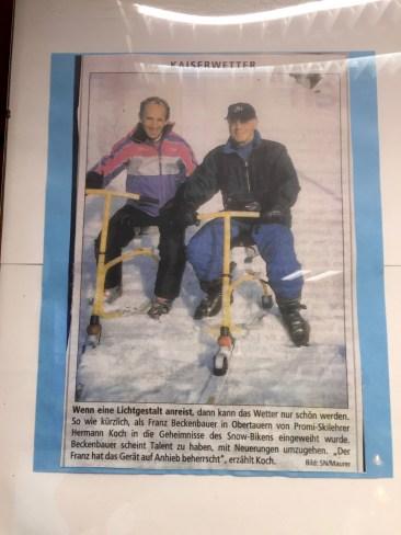 Auch Kaiser Franz war Snowbiken ©Gipfelfieber