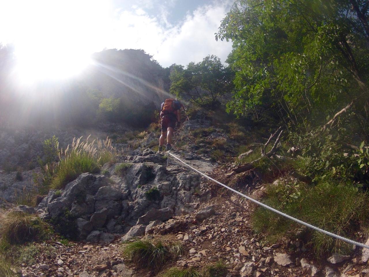 Klettersteig Che Guevara : Klettersteig ernesto che guevara garda trekking