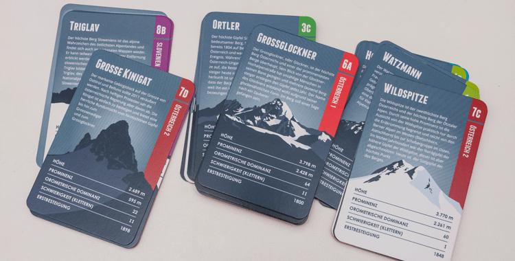 Alpenberge-Quartett: Berge spielend kennenlernen (Gewinnspiel) ©Gipfelfieber