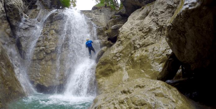 Canyoning in der Kobelache: Alles geht den Bach runter