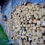 Holz vor der Hütte ©Gipfelfieber