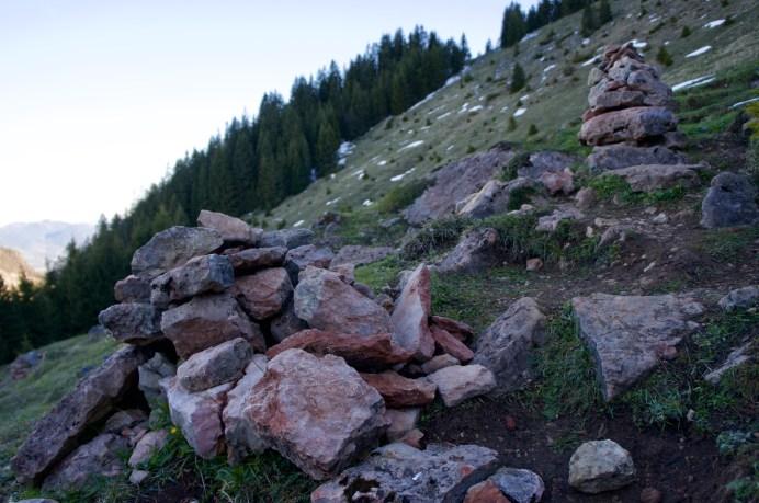 Steinmandl am Wegesrand ©Gipfelfieber