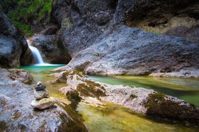 Wanderung durch die Almbachklamm: (Be)rauschende Fluten ©Gipfelfieber