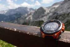 Mit der Casio Pro Trek WSD-F20 im Wettersteingebirge ©Gipfelfieber