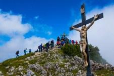 Die Teilnehmer der 24 h Untersberg Extrem am Gipfel ©Gipfelfieber
