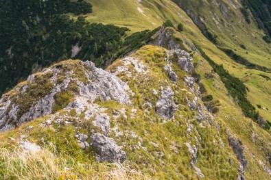 Steiles Schrofengelände im Aufstieg zum Turm ©Gipfelfieber