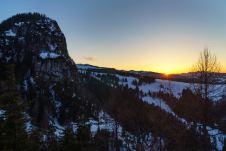 Dietrichshorn und ein letzter Sonnenstrahl ©Gipfelfieber