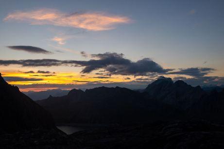 Sonnenaufgang an der Totalphütte ©Gipfelfieber