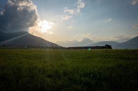 Sonnenuntergang in Axams ©Gipfelfieber