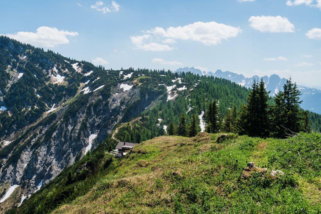 Goiserer Hütte vom Sonnwendkogel ©Gipfelfieber