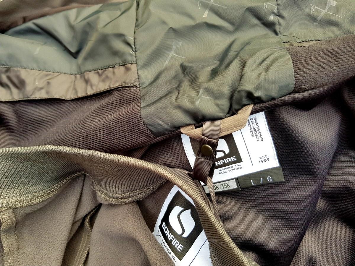 Bonfire Firma 3-IN-1 Stretch Jacket Öse zur Befestigung der Innenjacke