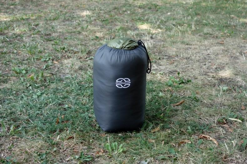 Kompakter Packsack des Cumulus Intense Schlafsack